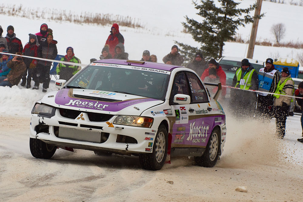 Hoosier Rally Tires Team at Rally Perce Neige in Maniwaki, Canada