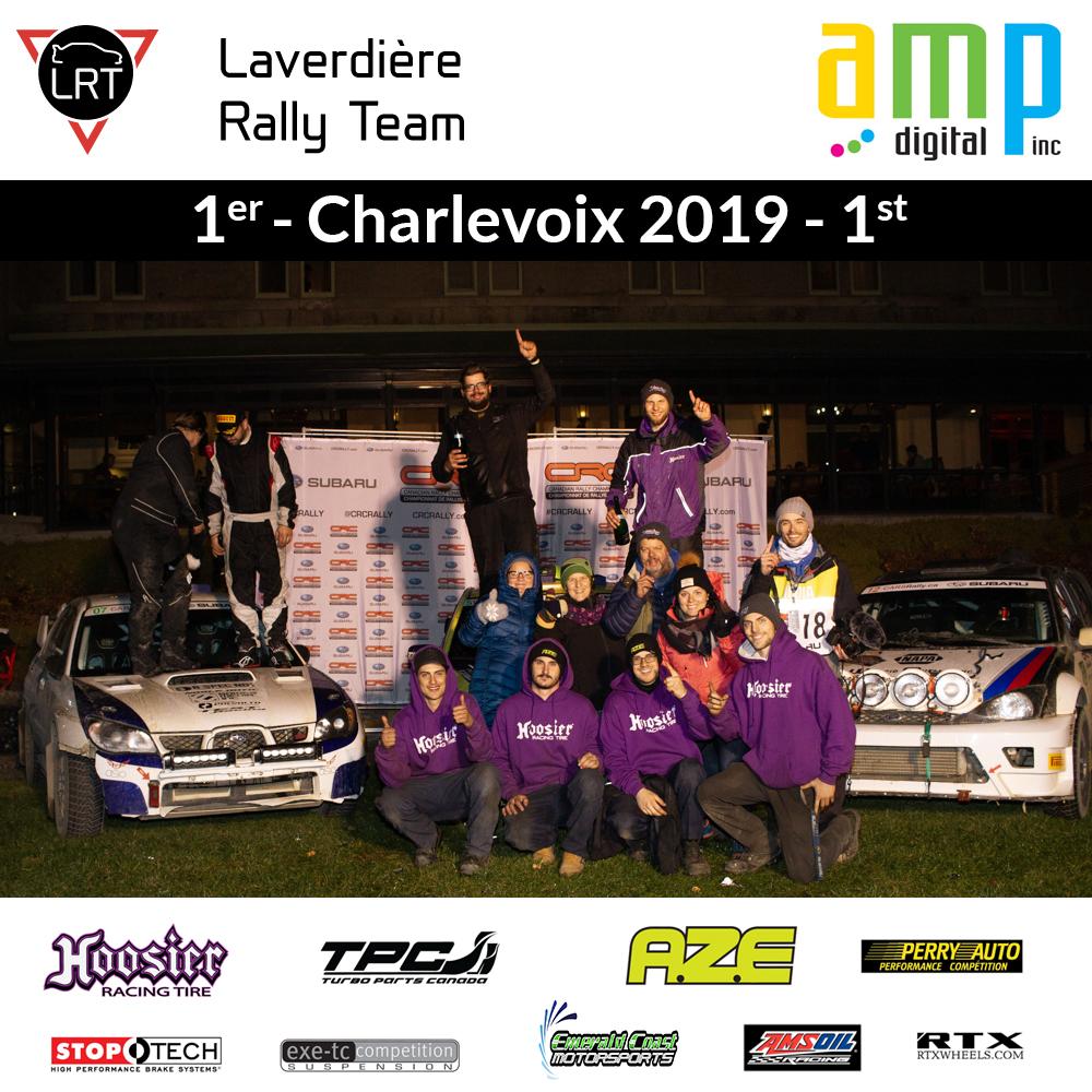 Victoire au rallye de charlevoix 2019